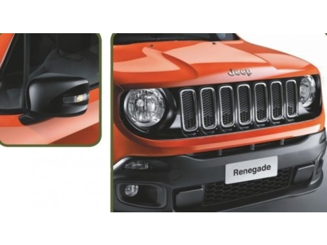 Jeep Renegade Комплект накладок на зеркала и решётку радиатора Mopar (черный-матовый)