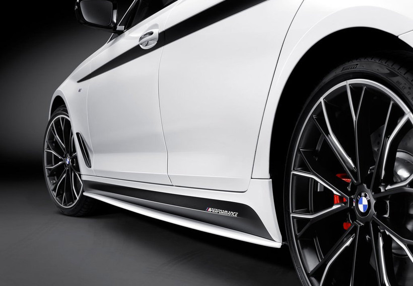 M Performance Side Skirt Sill GLOSS Decal Stickers for BMW F07 F10 F11 5 Series